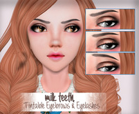 milk teeth. Blossom Tintable Eyelashes & Eyebrows for M3 Venus Head