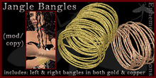 Mayfly - Jangle Bangles (left/right in both gold and copper)