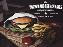 {BE} Burger & French fries (Click to Vend)