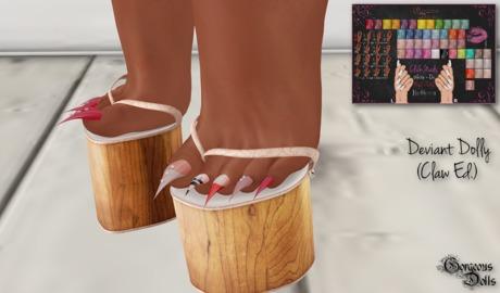 !~GD~Deviant Dolly Vol. I(Claw/PEDI) - Maitreya Mesh Feet