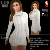 BD-Louise white Knitted Dress Mesh roll neck fitmesh slink belleza slits