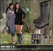!NFINITY Winterboots Back Lace - Grey - BOX
