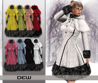 """DEW"" Hooded Cape Coat fatpack"