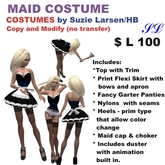 OnP Maid Outfit Costume