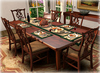 Dinner Party Dining Set for 6: Chippendale Mahogany Mesh