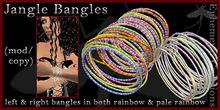 Mayfly - Jangle Bangles (left/right in two rainbow versions)
