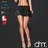 [DR] Mini Skirt Black GO ::Mesh::