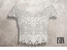 ISON - lace crop top (white)