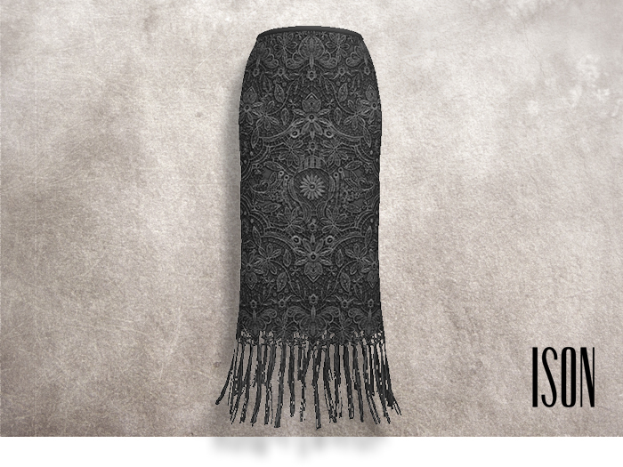 ISON - lace pencil skirt (gray)