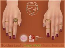 DATUM // Golden Leaf - Rings ♀