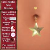 Tam's Holiday Christmas Star Navel PIercing