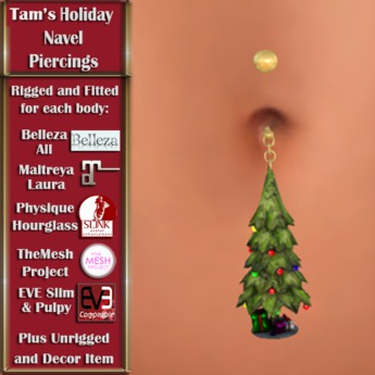 Tam's Holiday Christmas Tree Navel PIercing