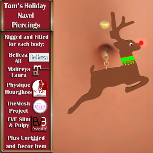 Tam's Holiday Rudolph Navel PIercing