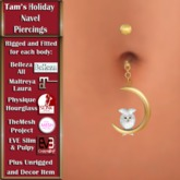 Tam's Holiday Snow Owl Navel PIercing