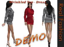 REAL FASHION Wrinkled top - dress DEMO