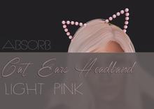 Absorb. Cat Ear Headand LIGHT PINK