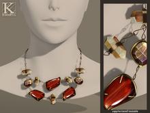 (Kunglers) Iracy necklace - Jasper