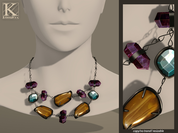 (Kunglers) Iracy necklace - Amber