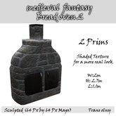medieval  fantasy Bread oven 2  (wood) BOX