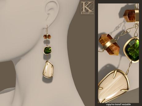 (Kunglers) Iracy earrings - Sand