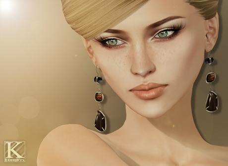 (Kunglers) Iracy earrings - Obsidian