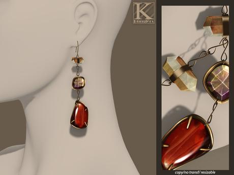 (Kunglers) Iracy earrings - Jasper