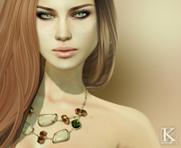 (Kunglers) Iracy necklace - Sand