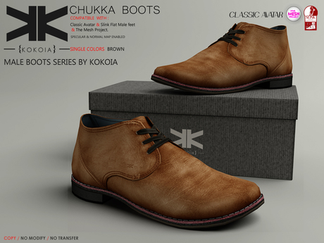 Chukka :: Shoes Male :: Brown :: {kokoia}