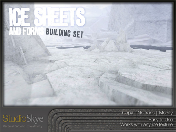 :NEW: Ice Sheets and Forms Building Set - 100% MESH