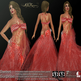 .:FlowerDreams:.Sweet Surprise - red applier gown