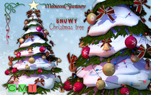 [MF] Mesh snowy decorated christmas tree (boxed)