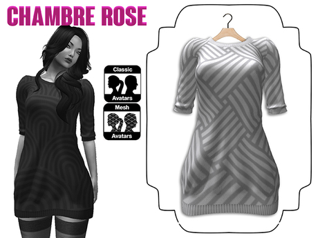 :-:Chambre Rose:-: ROBE PULL 1 BLANCHE GEO