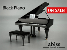 OnSale 10% off - Abiss Piano Black boxed - mesh made grand piano