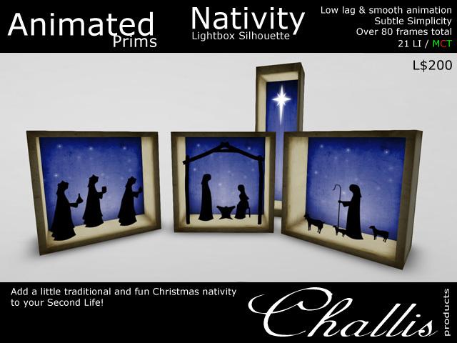 (Challis) Light Box Silhouette - Nativity - (MC)(BOXED)