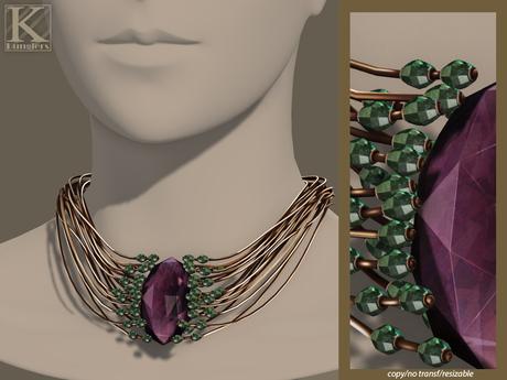 (Kunglers) Elwen necklace - Amethyst