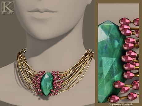 (Kunglers) Elwen necklace - Turmaline