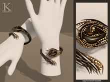 (Kunglers) Yennefer bracelets - Obsidian