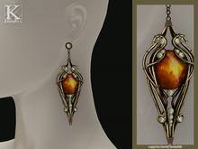 (Kunglers) Finrod earrings - Fire opal