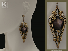 (Kunglers) Finrod earrings - Obsidian