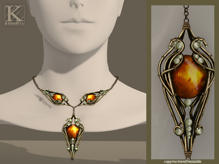 (Kunglers) Finrod necklace - Fire Opal
