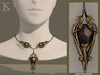 (Kunglers) Finrod necklace - Obsidian