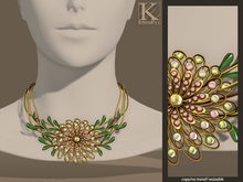 (Kunglers) Anais necklace - Green