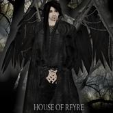 RFyre Dysis, Men's, Noir, Black Leather Trench Coat