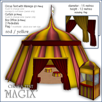 """Sway's Circus Tent """"MAGIX"""" - red/yellow"""
