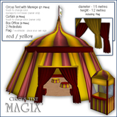 "Sway's Circus Tent ""MAGIX"" - red/yellow"