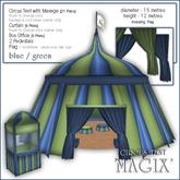 """Sway's Circus Tent """"MAGIX"""" - blue/green"""
