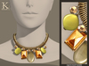 (Kunglers) Melita necklace - Amber