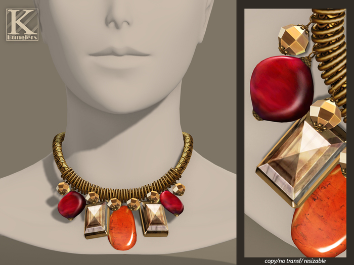 (Kunglers) Melita necklace - Golden