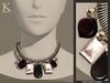 (Kunglers) Melita necklace - Obsidian