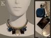 (Kunglers) Melita necklace - Silver jade